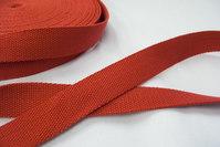 Bomuldsgjordbånd 3 cm rød.