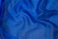 Transparent coboltblå organza.
