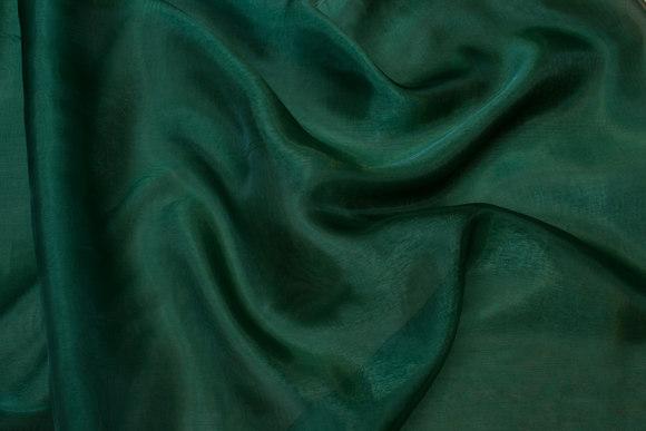 Transparent lys flaskegrøn organza