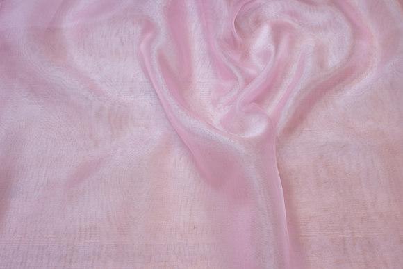 Transparent sart rosa organza