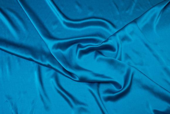 Turkisgrøn, superflot sandvasket ren silke