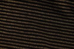 Tværstribet ribstof i sort og guld