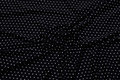 Viscose-jersey, sort med små hvide prikker.