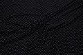 Viscose-jersey, sort med små hvide prikker