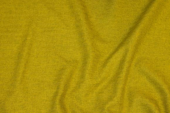 Diskret sildebensvævet polyester i lime-gulgrøn