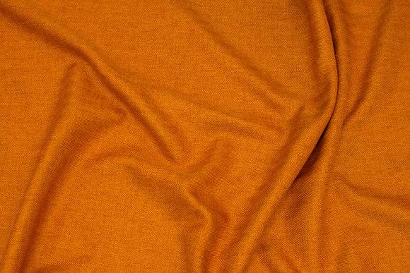 Diskret sildebensvævet polyester i orange