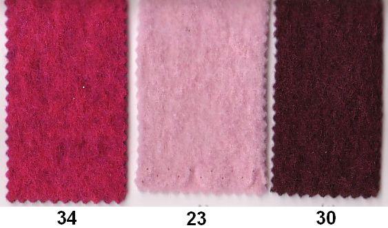 Filtet uld i pink, lyserød, bordeaux