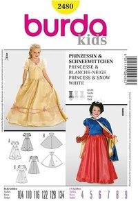 Snehvide, prinsesse. Burda 2480.
