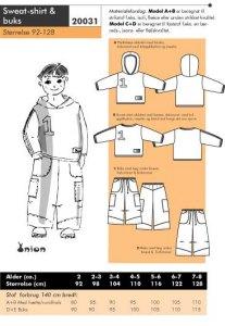 Sweat-shirt og buks. Onion 20031.