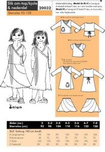 Slå om-top/kjole og nederdel. Onion 20032.