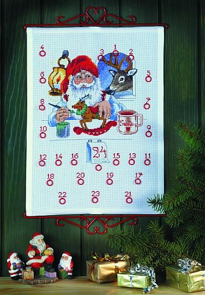 Pakkekalender - Julemanden laver gaver