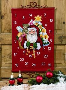 Pakkekalender - Julemanden med pakkerne. Permin 34-7252.