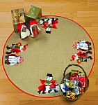 Permin 45-6211. Juletræstæppe med dansende nisser.