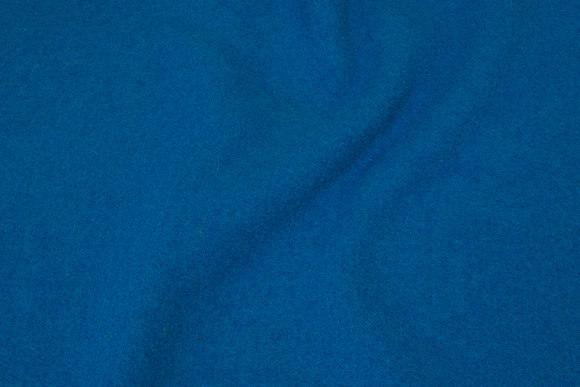 Blå-turkis uldbouclé i ren uld