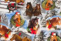 Bomuldsjersey med juleheste