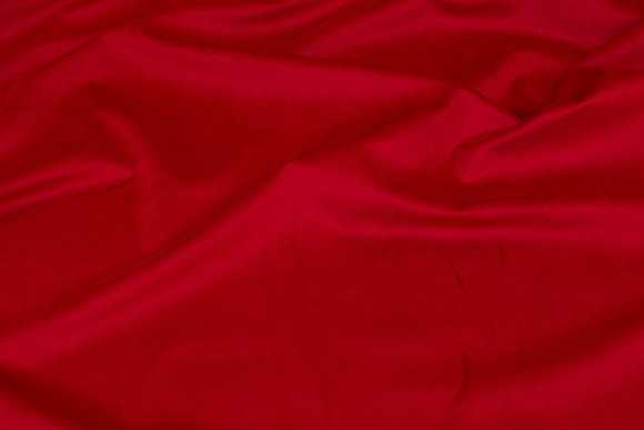 Fast, vævet velour i rød