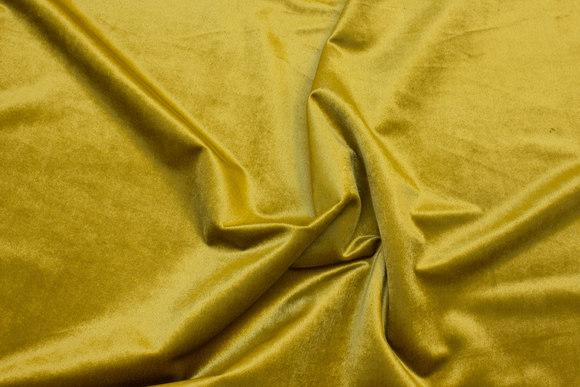 Flot gulgrøn Rokoko-velour med let skinnende overflade