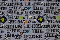 Grå bomuldsjersey med bogstaver og Frode Får