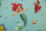 Havfruen Ariel på turkis bomuld