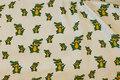 Hvid bomuldsjersey med krokodiller.