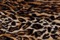Leopard pels i brun-sort med naturligt mønster
