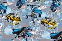 Lysegrå bomuldsjersey med flotte Batman-motiver