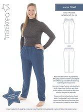 Bukser med skrå lommer og elastik. Minikrea 70360.