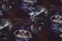 Mørk bomuldsjersey med Batman motiver