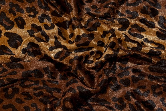 Nervøs velour i leopardmønster