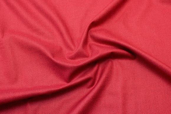 Småprikket bomuld  bordeaux rød tone i tone