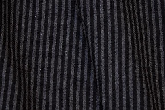 Smalstribet rib i koks og sort, 4 mm strib på tværs