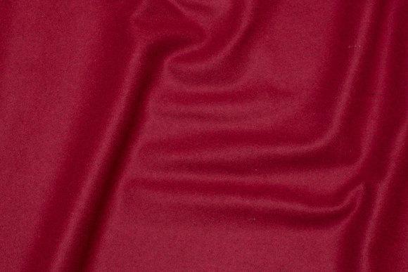 Vævet uldstof rød