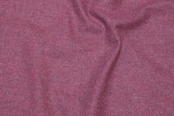 Vævet uldstof rosa