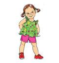 Småbørn top, kjole, shorts, bukser