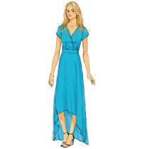 Lang kjole. Butterick 6051.