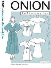 Kimono slå-om kjole. Onion 2083.