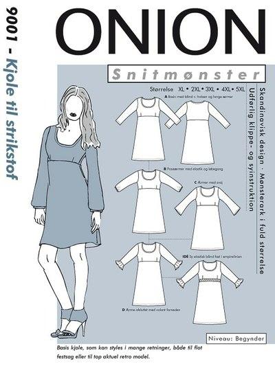 Kjole med empiresnit - plus størrelse