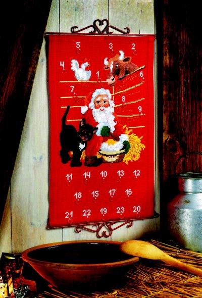 Pakkekalender - Julemanden i stalden