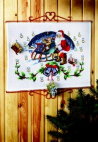 Pakkekalender - Julemand i kane. Permin 34-2205.