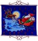 Permin 34-5211. Pakkekalender - Julemand flyver i kanen.