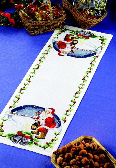 Bordløber - Julemand med lygte og klokker