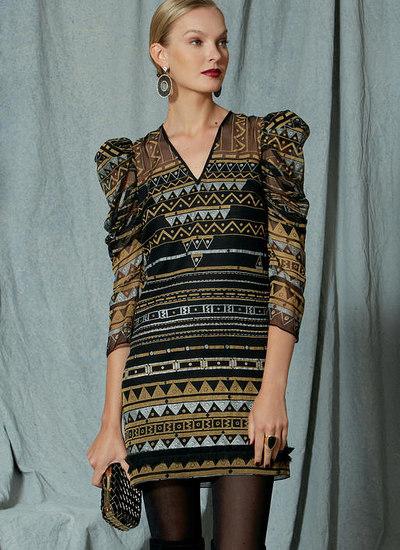 Exaggerated Pleated Sleeve Dress, Zandra Rhodes