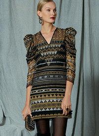 Exaggerated Pleated Sleeve Dress, Zandra Rhodes. Vogue 1518.
