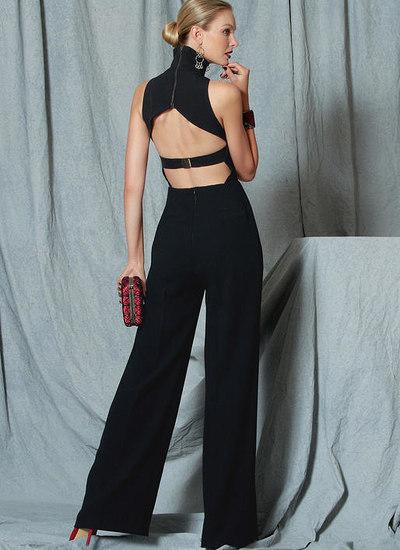 Open-Back, Banded Jumpsuit, Custom Fit