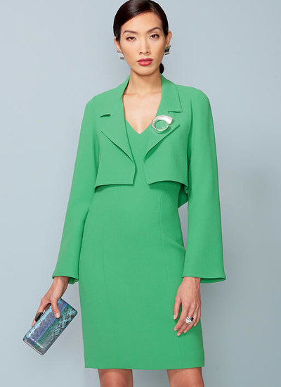 Petite Cropped Jacket and V-Neck, Princess Seam Dress, Tom and Linda Platt