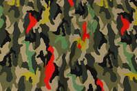 Camouflage bomuldsjersey i nye farver