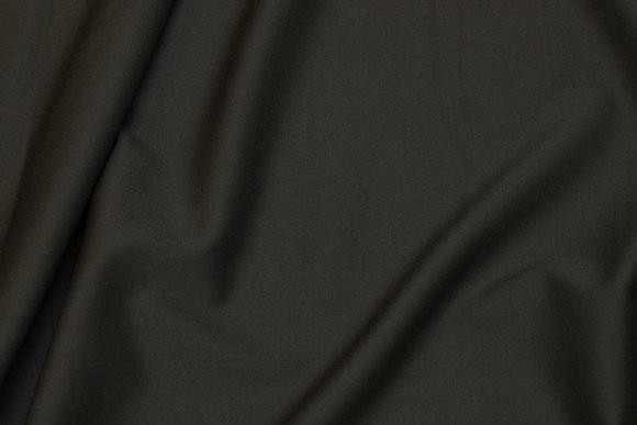 Dyb mørkgrøn uld og polyester gabardine med stræk