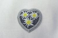 Edelweiss hjerte strygemærke 4x4cm