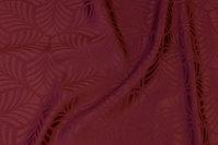 Elegant jacquardvævet dugestof i bordeaux med ca. 6 cm bladmønster