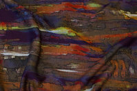 Heavyjersey i efterårsfarver med striber på langs